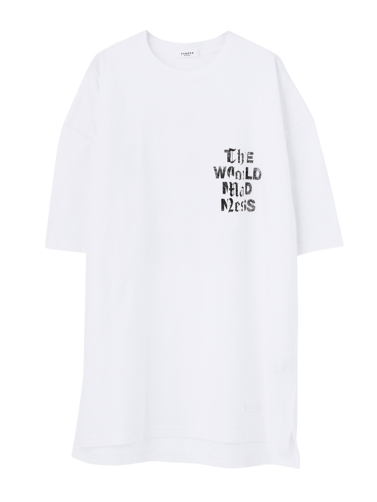 【SHARED】MADNESS Tシャツ(ホワイト-1)