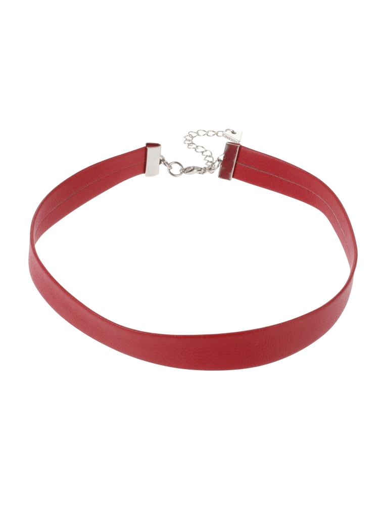 FAKE LEATHER CHOKER(レッド-F)