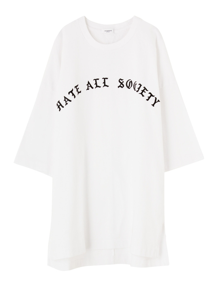 【SHARED】HATE ALL SOCIETY Tシャツ(ホワイト-F)