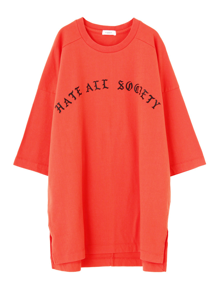 【SHARED】HATE ALL SOCIETY Tシャツ(レッド-F)