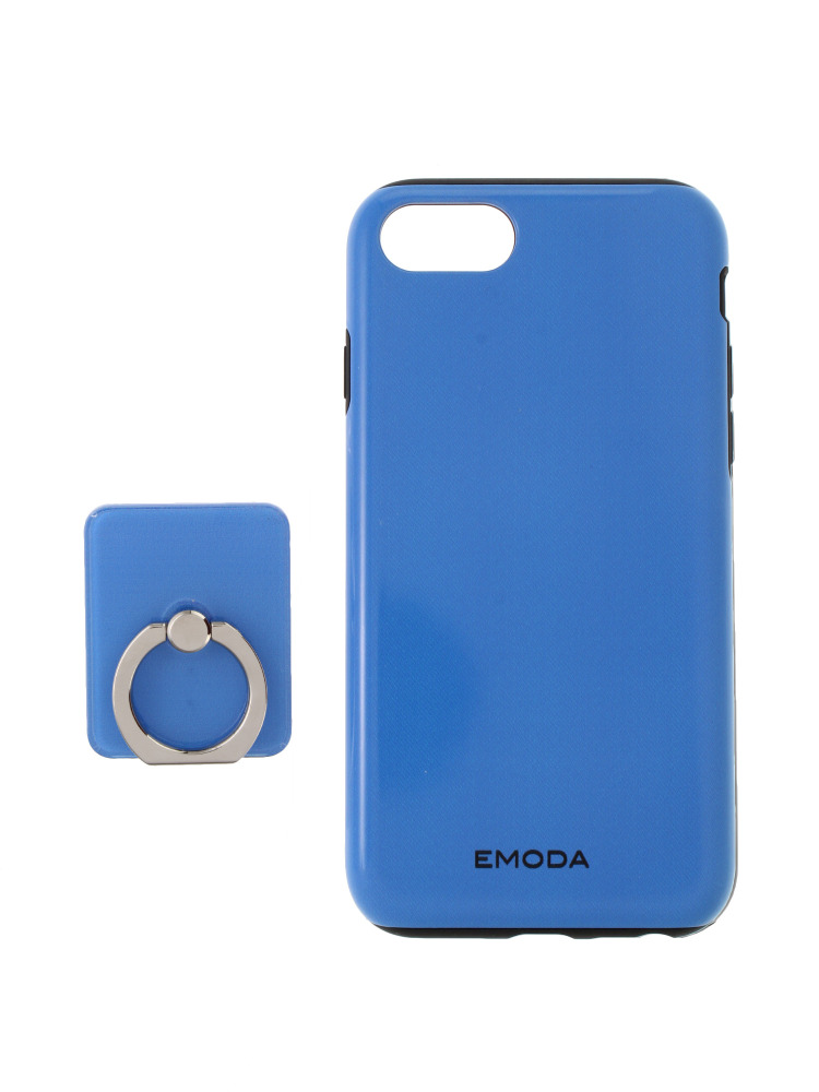 【6/6S/7対応】RING iPhone case(ブルー-F)