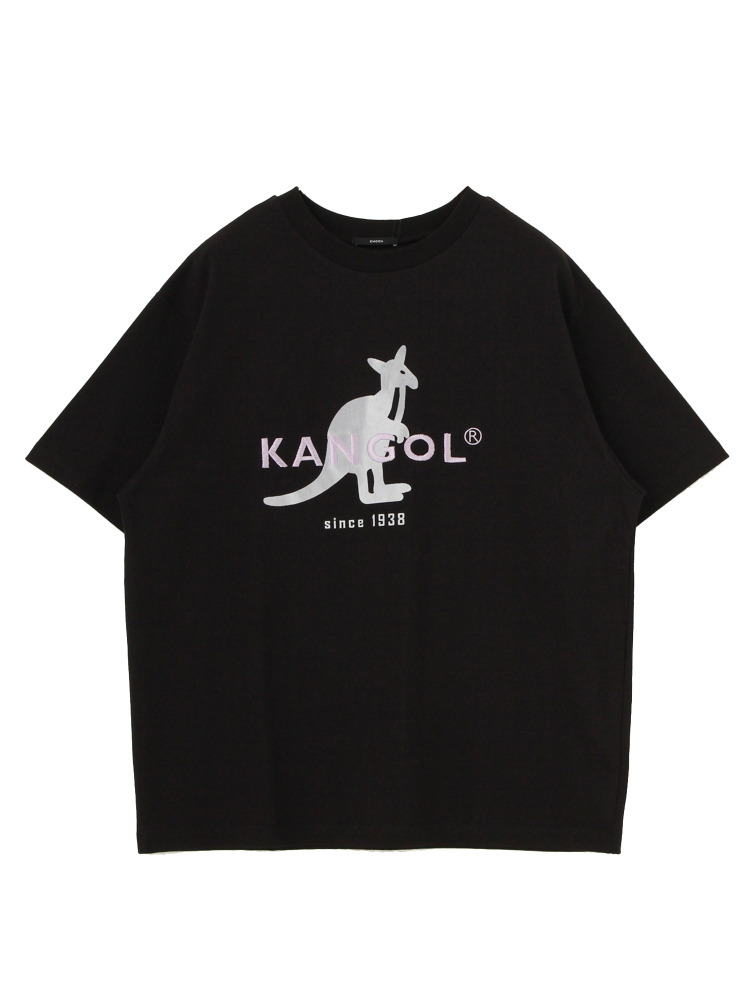 【EMODA×KANGOL】BIG MARK Tシャツ(ブラック-F)