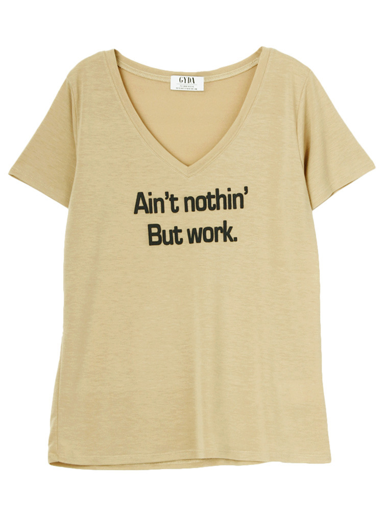 Ain't nothin' But work.Tシャツ(ベージュ-F)