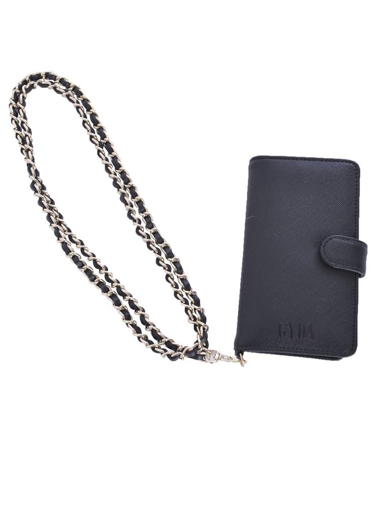 ≪6 対応≫フェイクレザーiPhone6 ケース(ブラック-F)