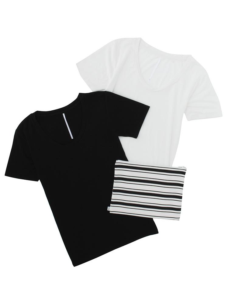 タイトUネックTシャツ SET(ミックス-F)
