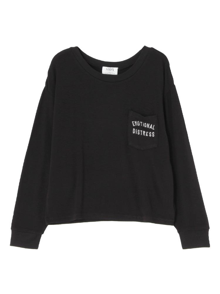 EMOTIONAL ロングTシャツ(ブラック-F)