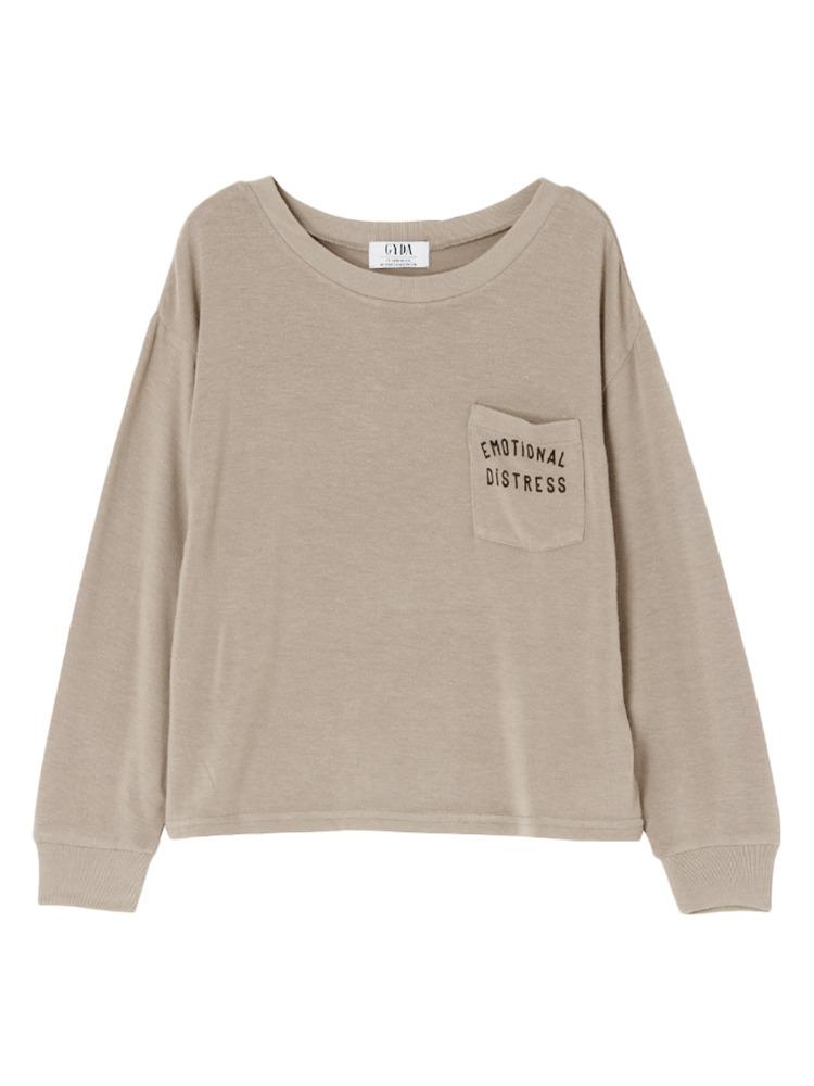 EMOTIONAL ロングTシャツ(ベージュ-F)
