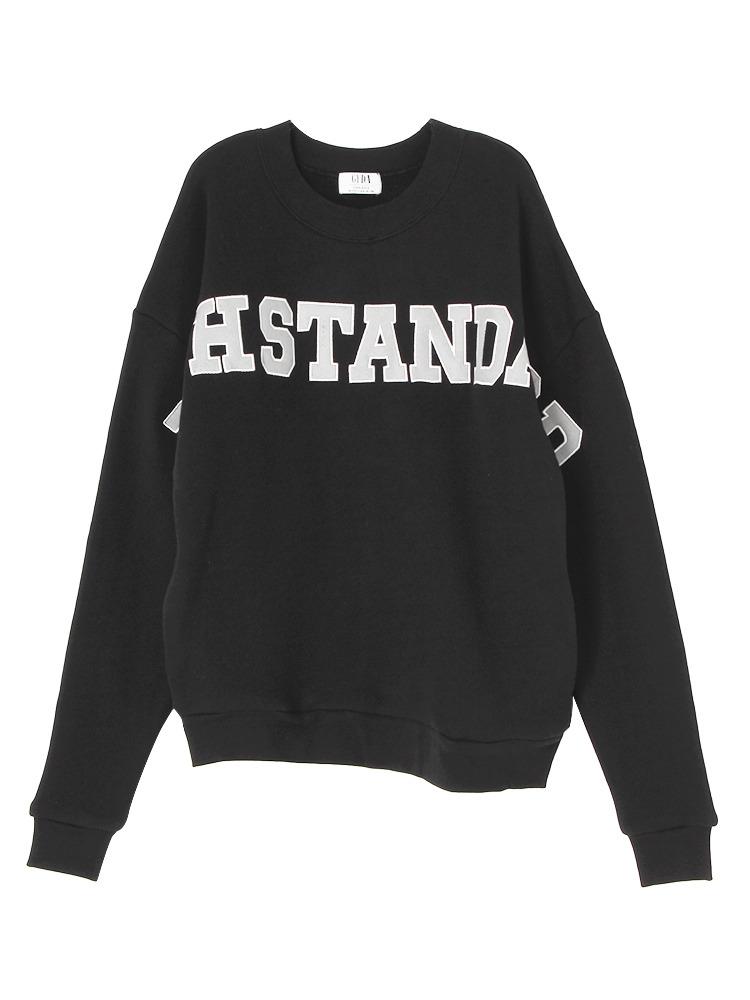 HISTANDARD BIG プルオーバー(ブラック-F)