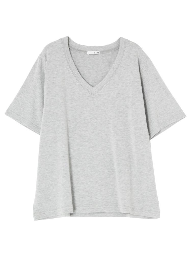 ガーゼタッチGネックTシャツ(グレー-F)
