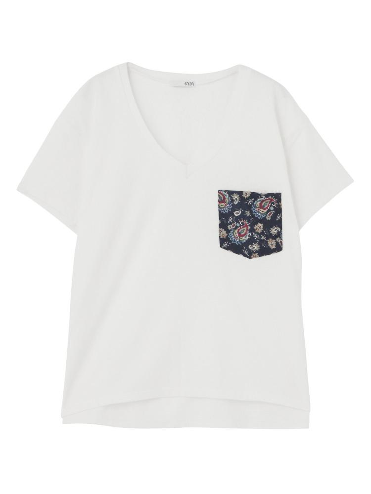 GYDAのペイズリーポケットTシャツ