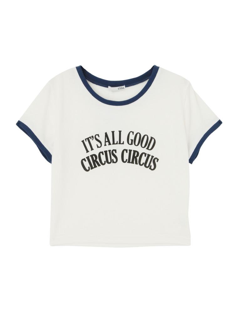 GYDAのCIRCUSショートリンガーTシャツ