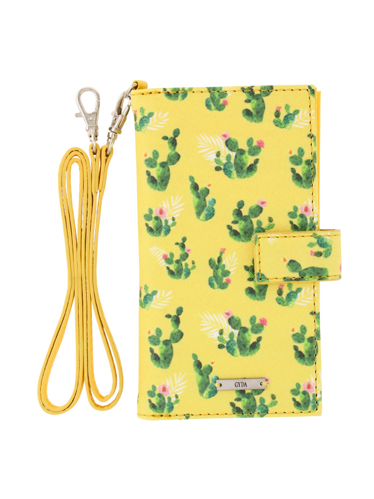 <6/6s/7対応>original cactus pattern iphone case(イエロー-F)