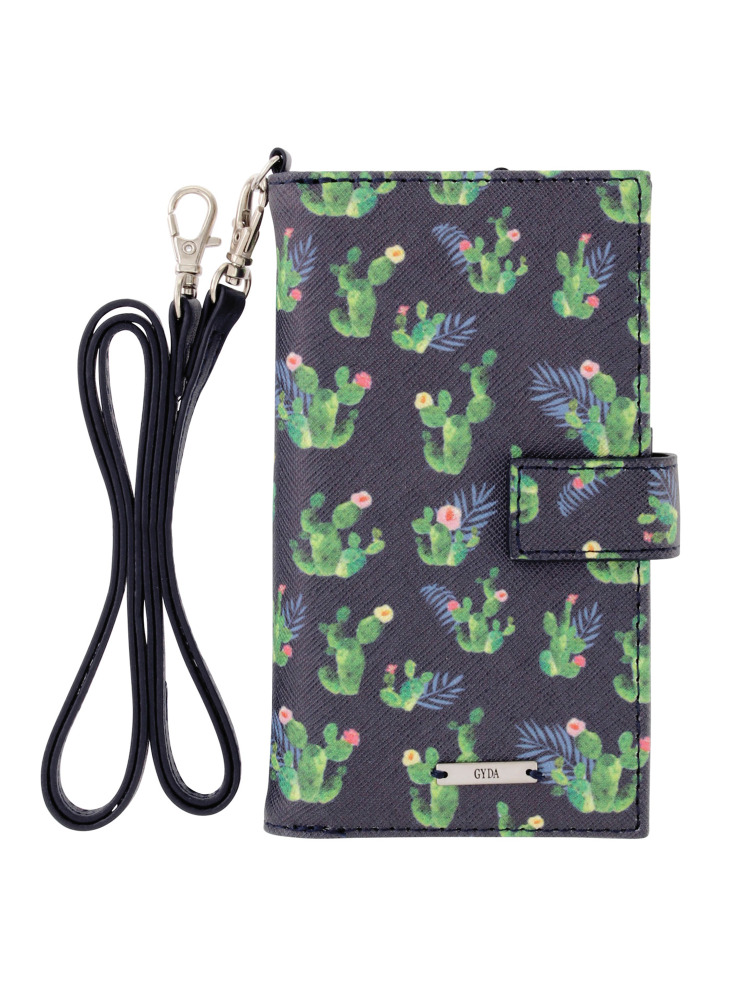 <6/6s/7対応>original cactus pattern iphone case(ネイビー-F)