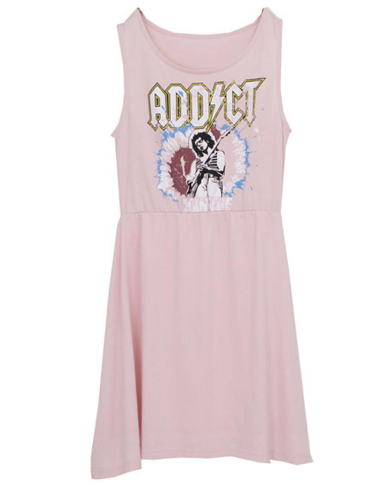 【GIRLY】ADDICT ロックOP(ピンク-M)