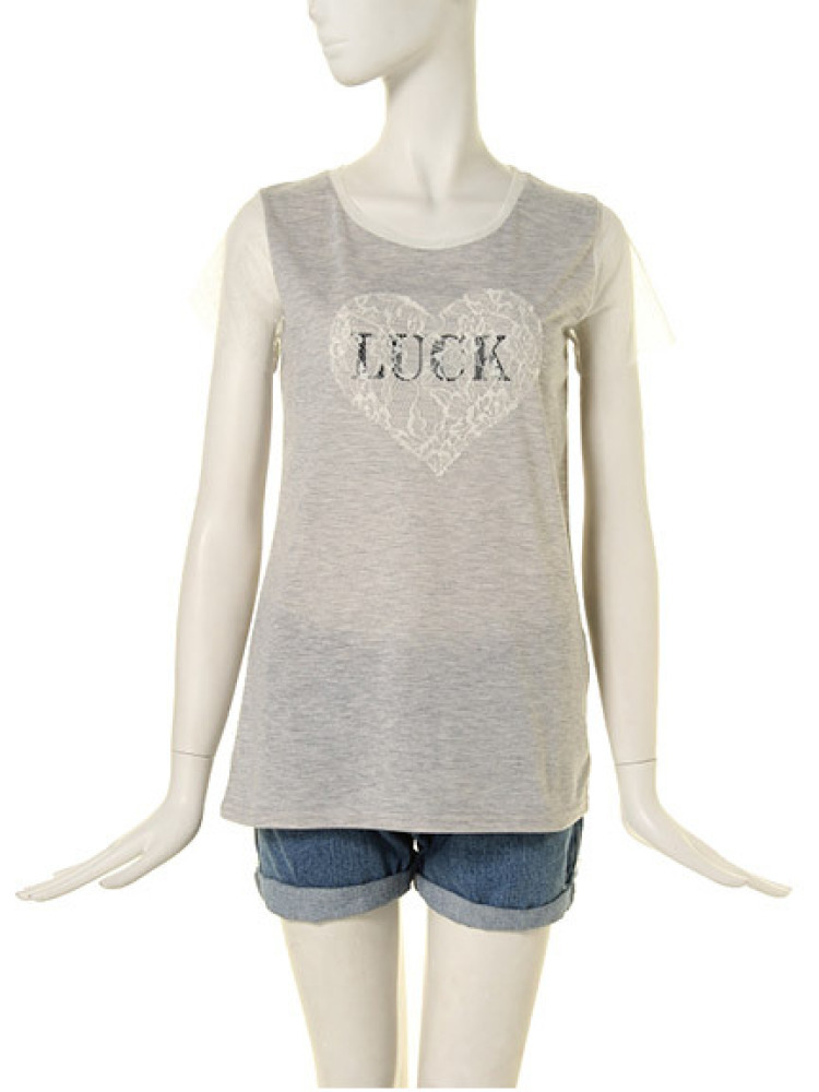 ★【GIRLY】  LUCK T(グレー-M)
