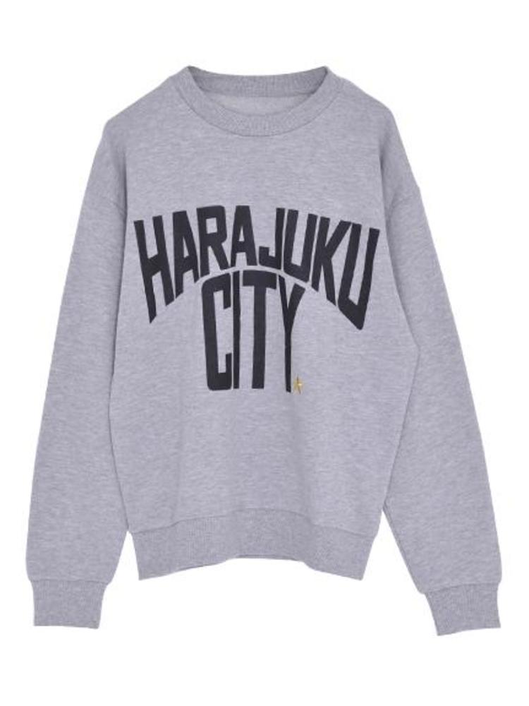 【CASUAL】HARAJUKU CITYトップス(グレー-M)