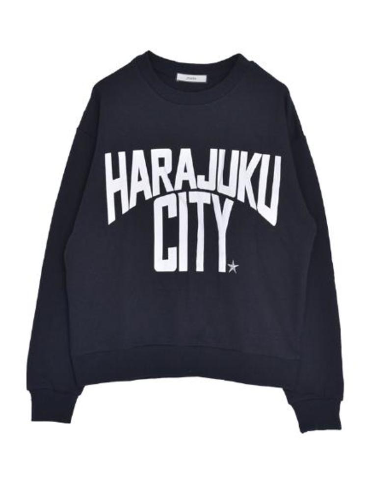 【CASUAL】HARAJUKU CITYトップス(ブラック-M)