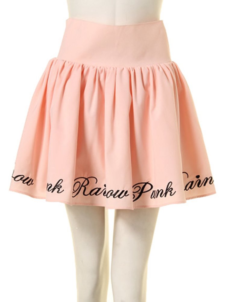【GIRLY】RAINBOW PUNK ボリュームスカート(ベビーピンク-M)