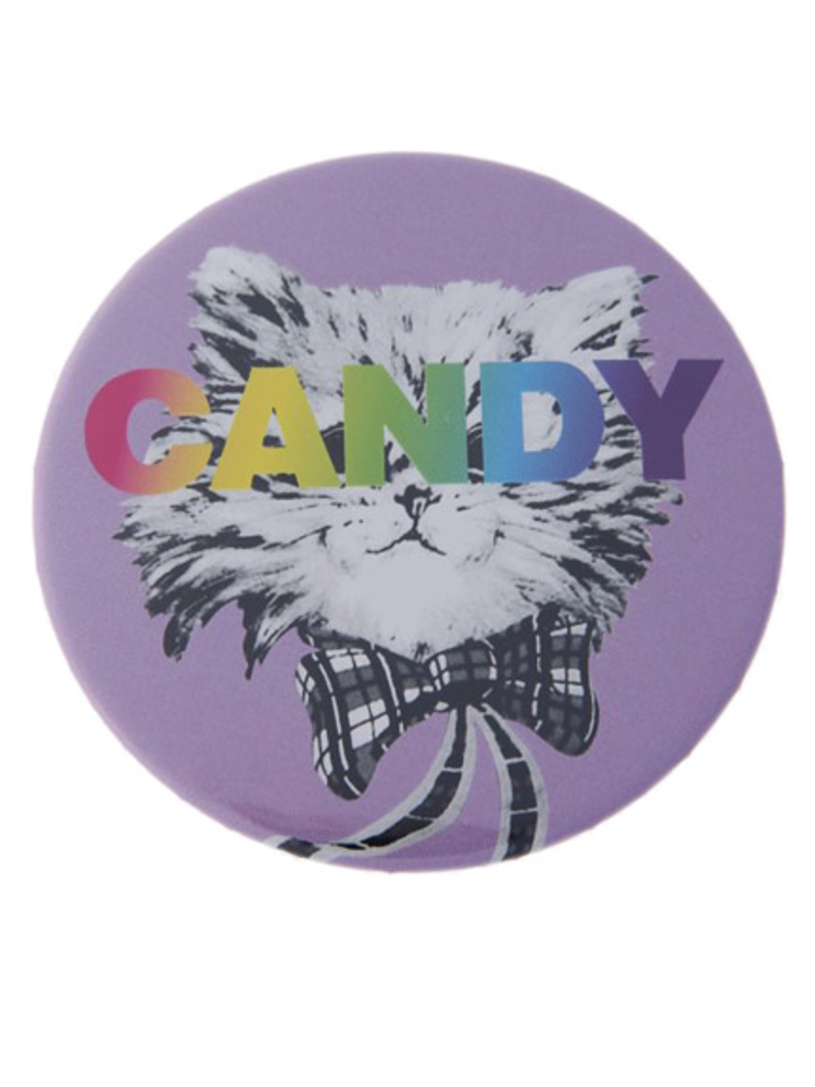 【CASUAL】CANDY CAT缶バッチ特大(ベビーピンク-F)
