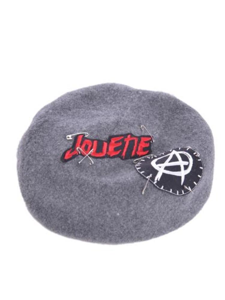 【CASUAL】リメイクベレー帽(グレー-F)