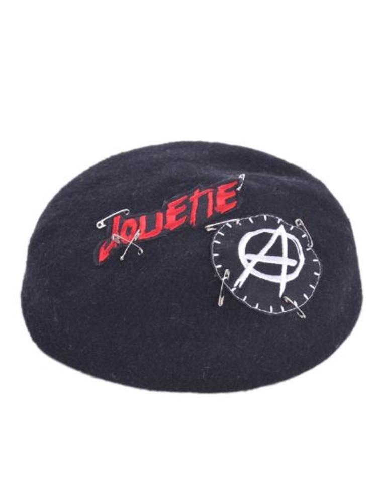 【CASUAL】リメイクベレー帽(ブラック-F)