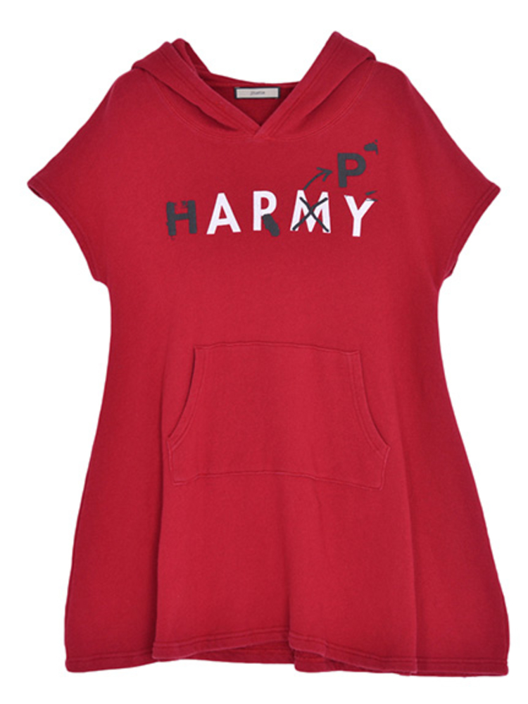【CASUAL】ARMYパーカーワンピース(レッド-M)