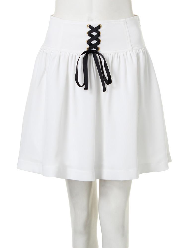 【CASUAL】レースUPスカート(オフホワイト-M)