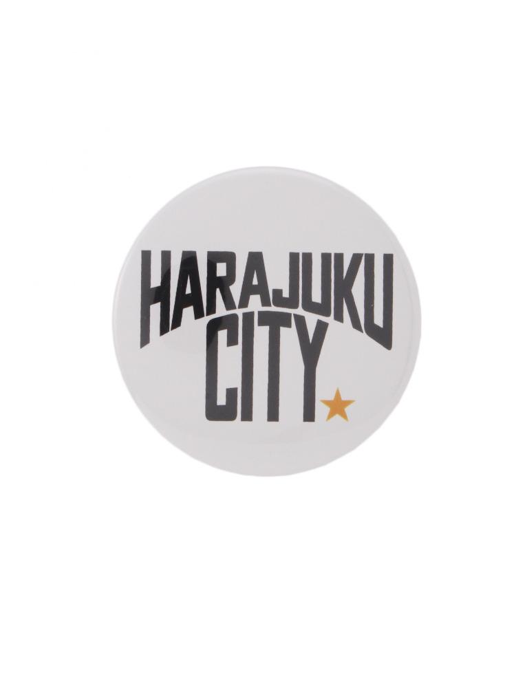 【CASUAL】HARAJUKU CITY缶バッチ大(オフホワイト-F)