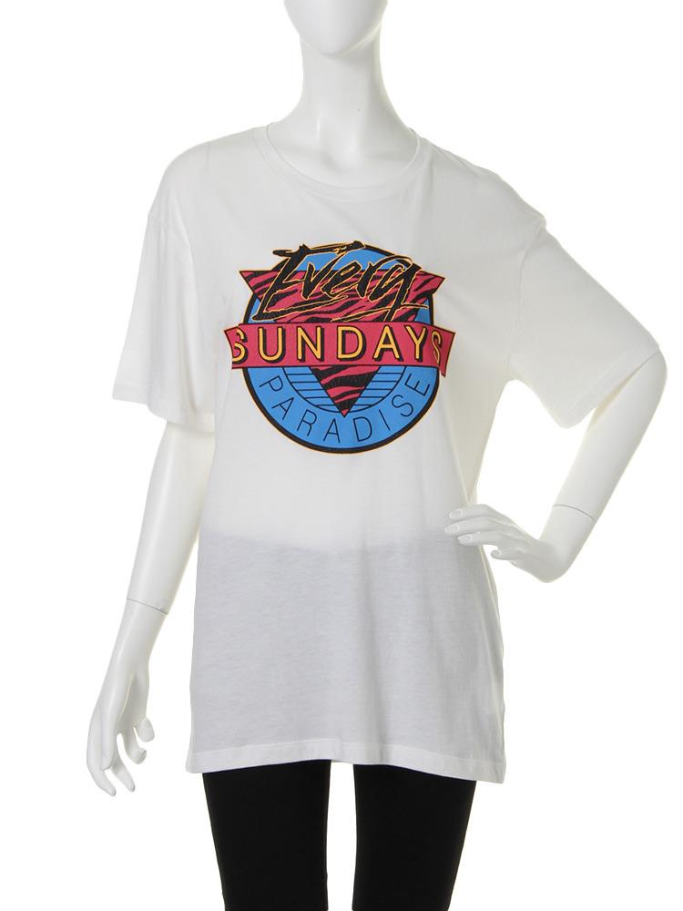SUNDAY T シャツ(オフホワイト-M)