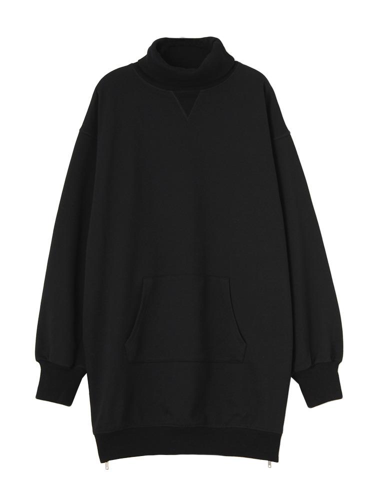 裾ファスナータートルOP(ブラック-M)