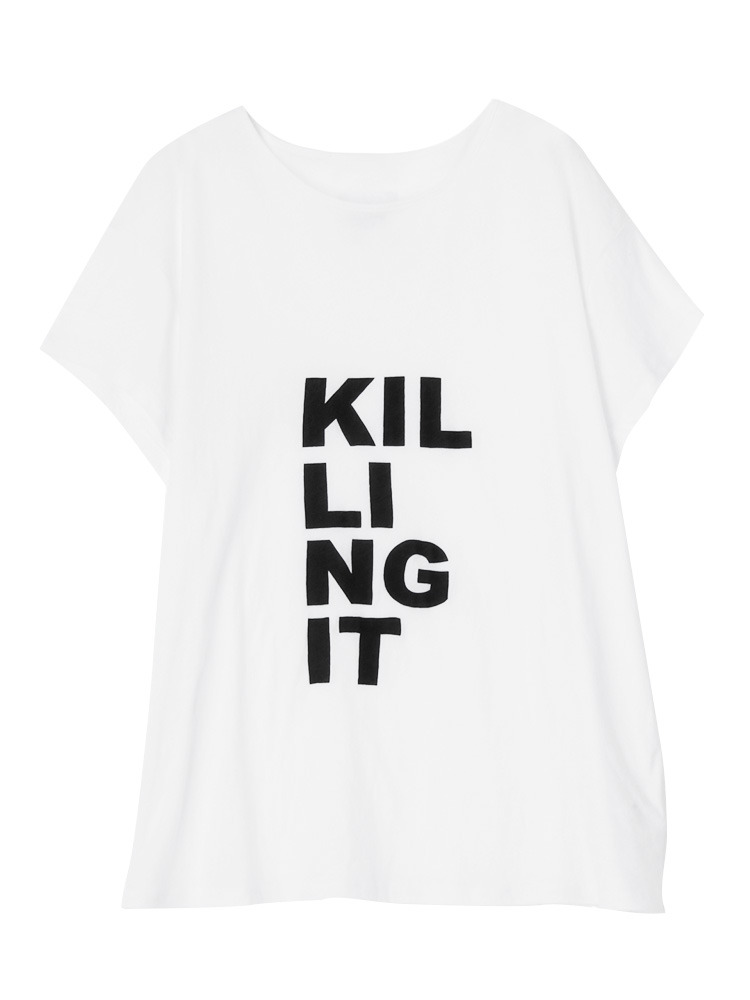【First base】Killing it tee(オフホワイト-1)