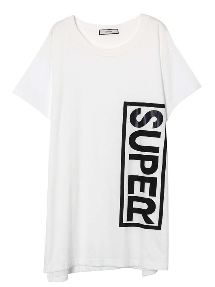 【GIRLY CASUAL】SUPER BOX BIG T(オフホワイト-M)
