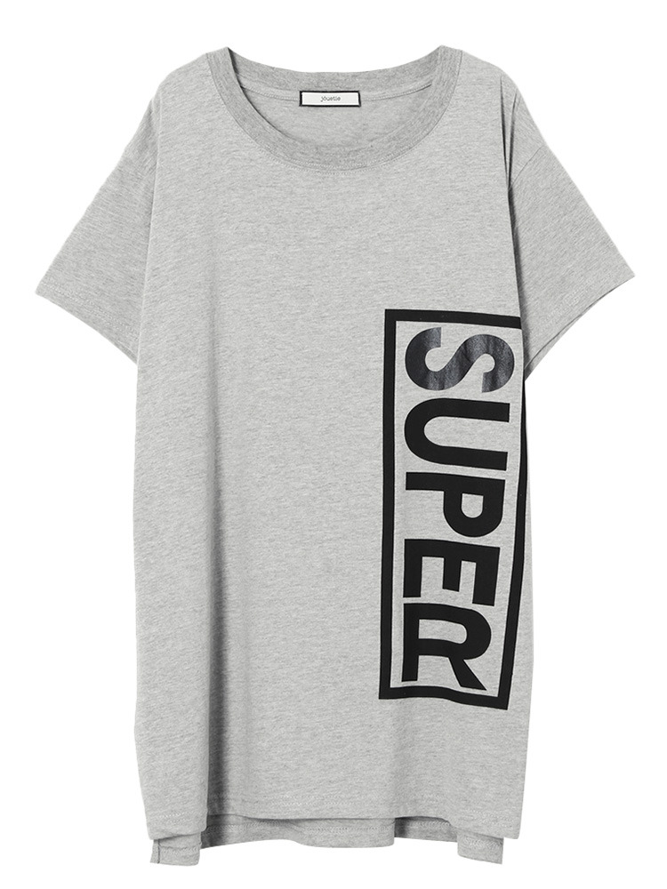 【GIRLY CASUAL】SUPER BOX BIG T(グレー-M)