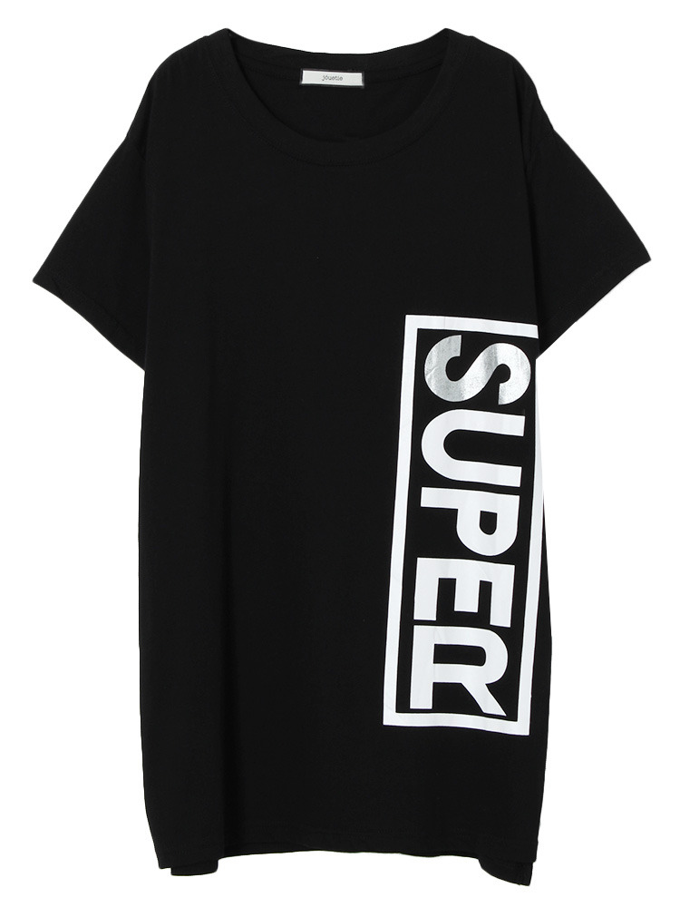 【GIRLY CASUAL】SUPER BOX BIG T(ブラック-M)