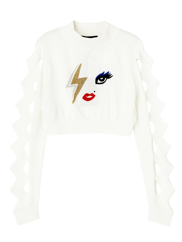 【IMPORT】BOWIE MADONNA SWEATER(ホワイト-4)