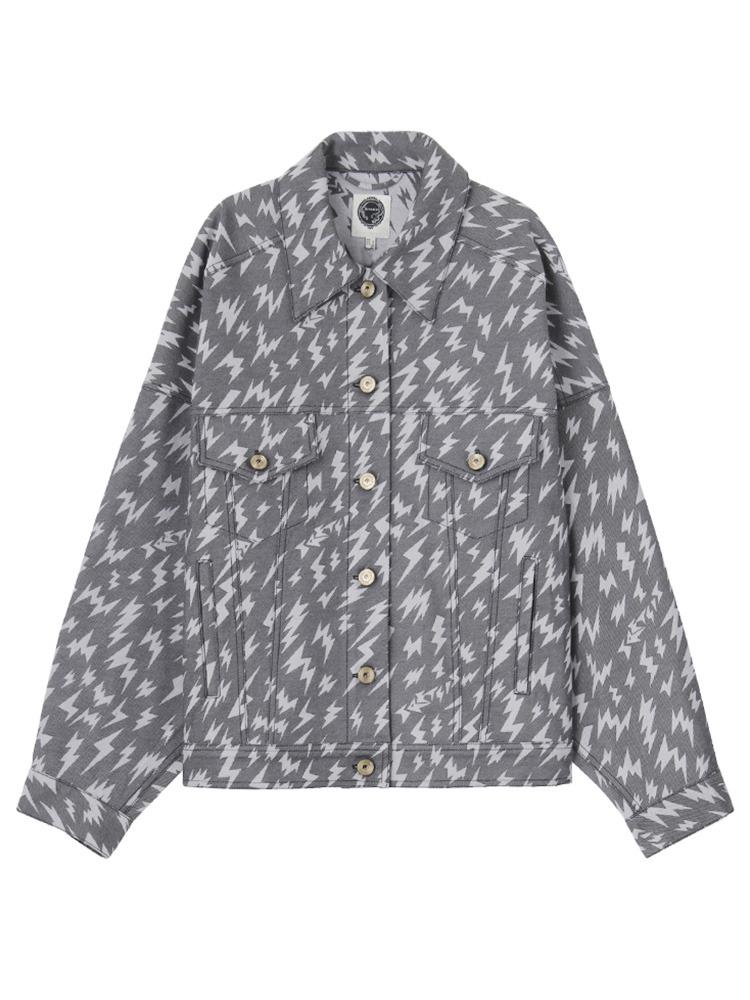 【IMPORT】New hits thunder jacket(ブラック-2)
