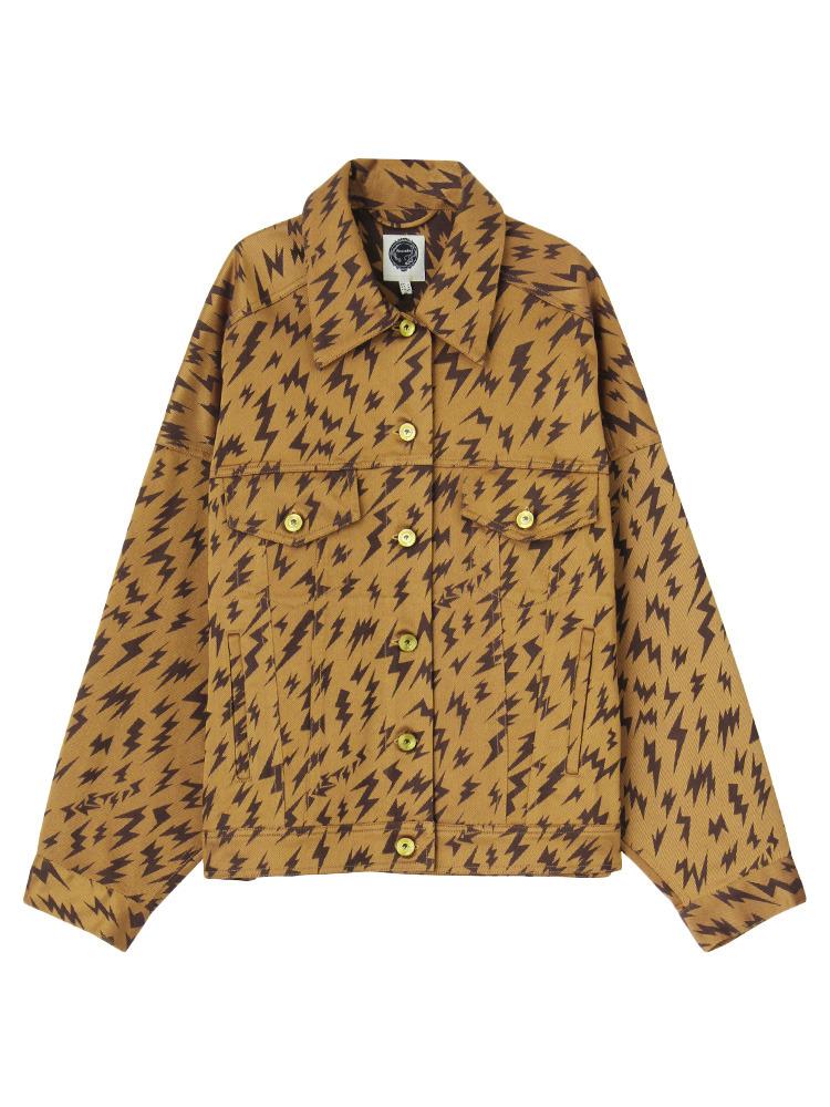 【IMPORT】New hits thunder jacket(ブラウン-2)