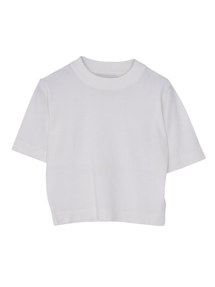 半袖ちびニット(オフホワイト-M)
