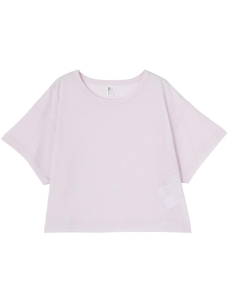 ショート丈Tシャツ(ベビーピンク-M)