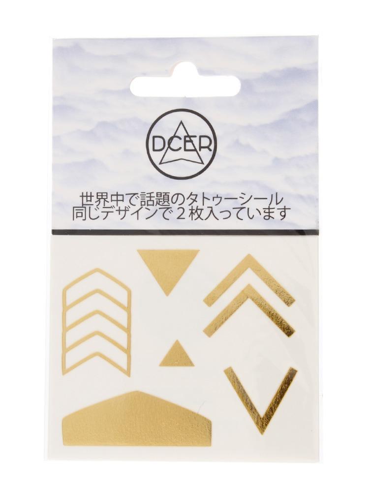 Gold big arrow tattoo(ゴールド-F)