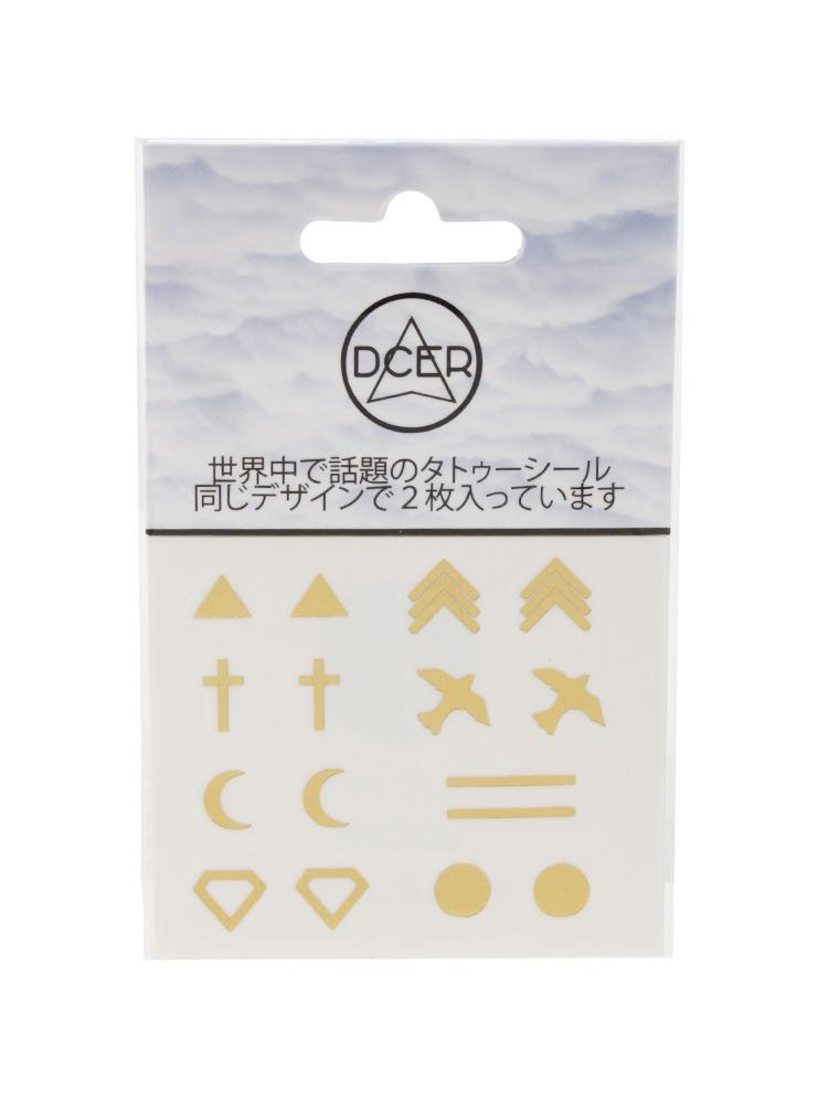 Gold earrings tattoo(ゴールド-F)