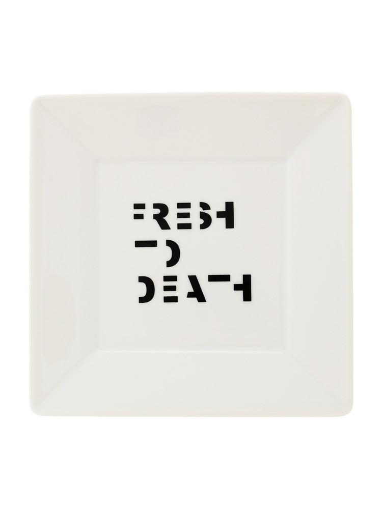 FRESH TO DEATHスクエアプレート(オフホワイト-F)