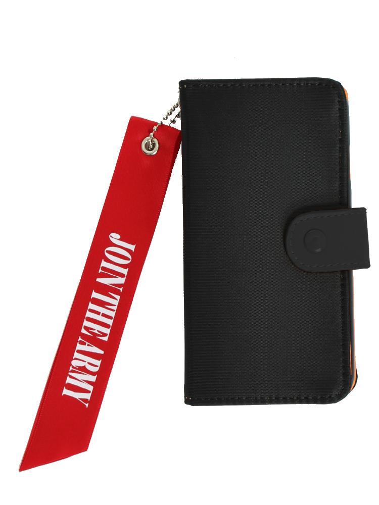 <<6対応>>【WEB限定】MA-1 iphoneケース(ブラック-F)