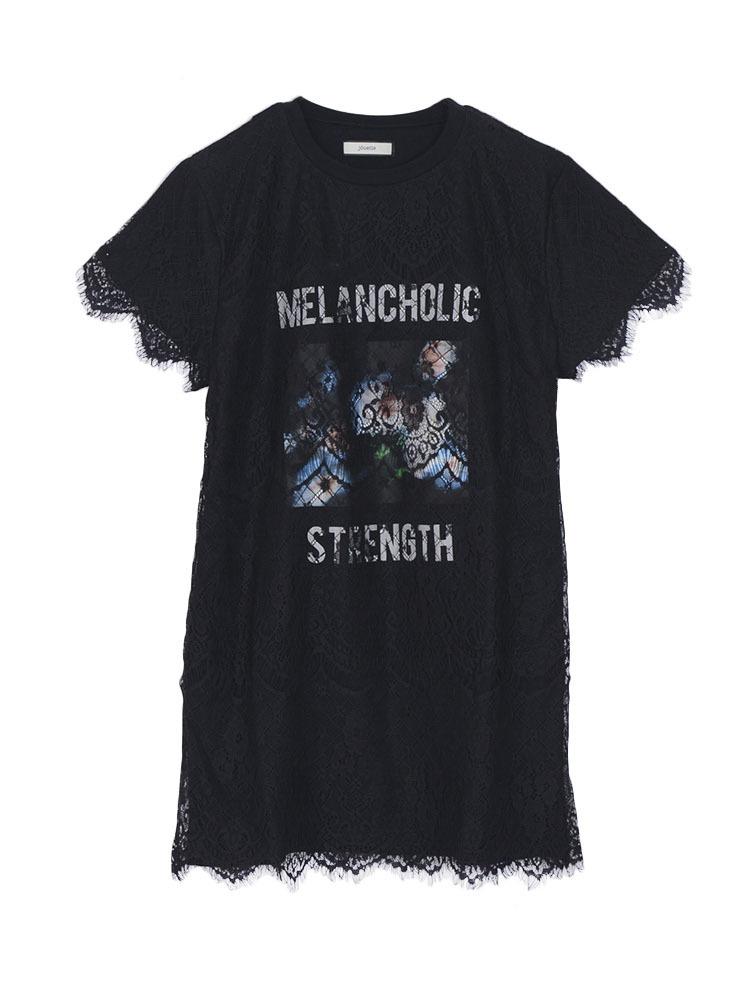 【WEB限定】MELANCHOLICレースTワンピース(ブラック-M)