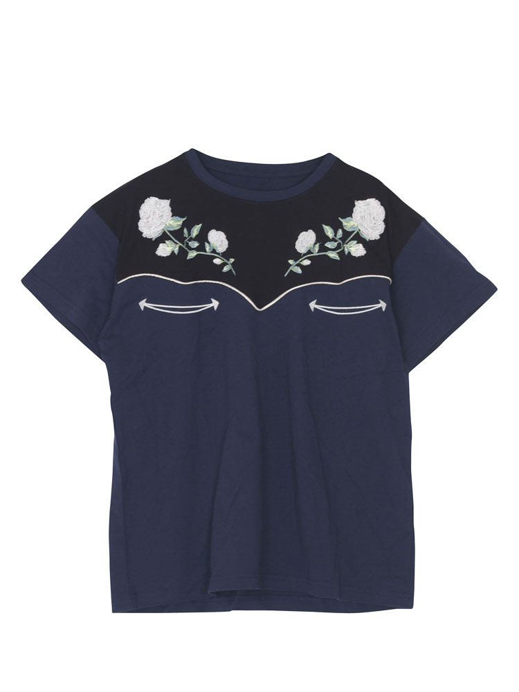 WESTERN EMBROIDERY TEE(ネイビー-M)