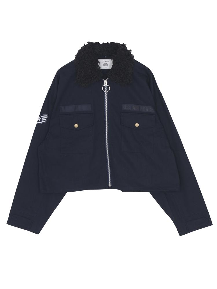 リングジップジャケット(ネイビー-M)