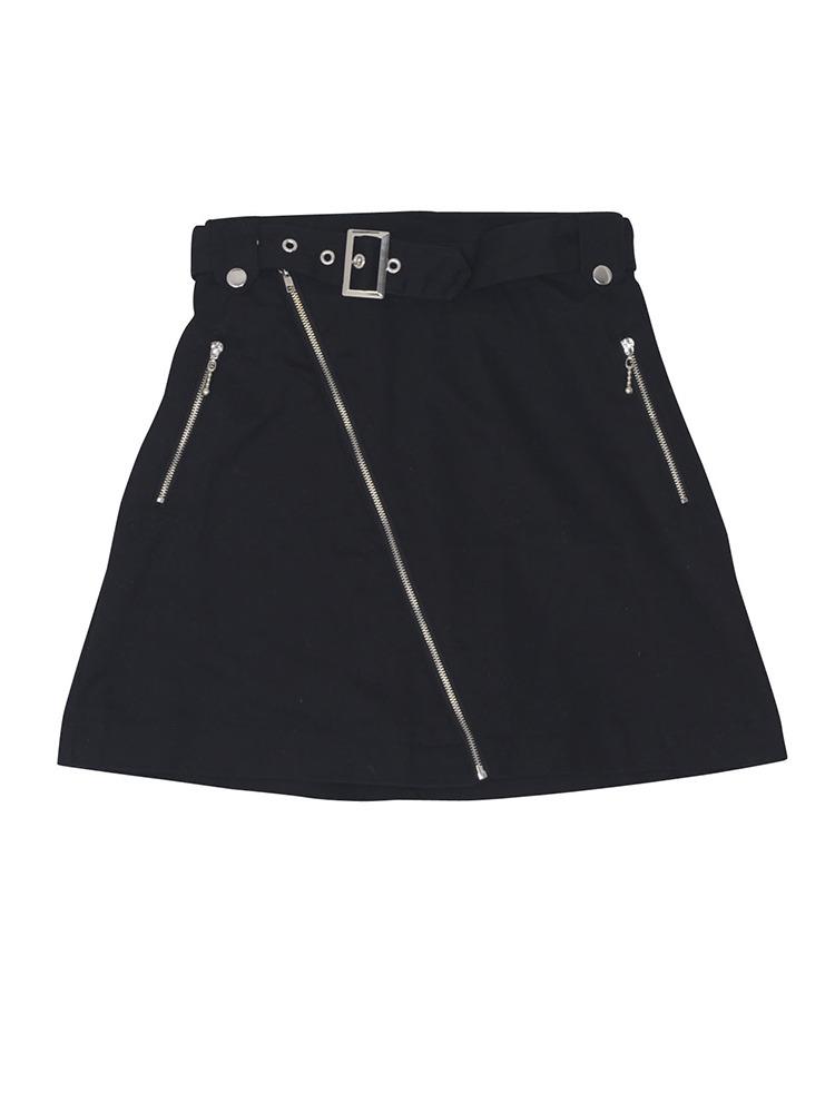 ライダーススカート(ブラック-M)