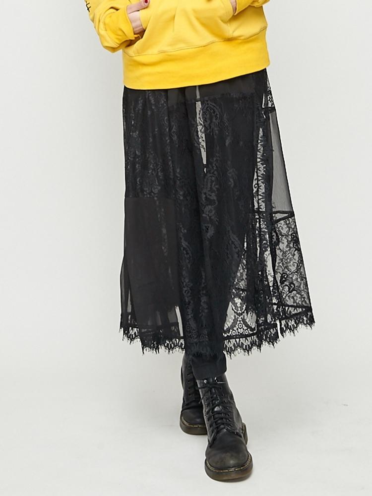 パッチワークレイヤードスカート