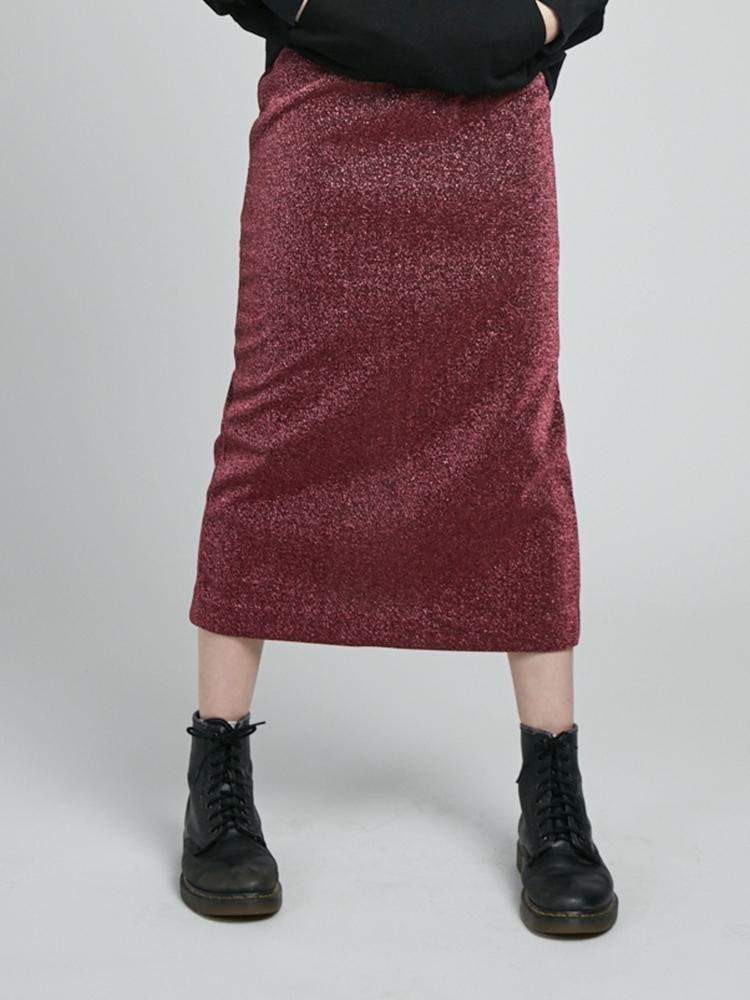 ラメペンシルスカート