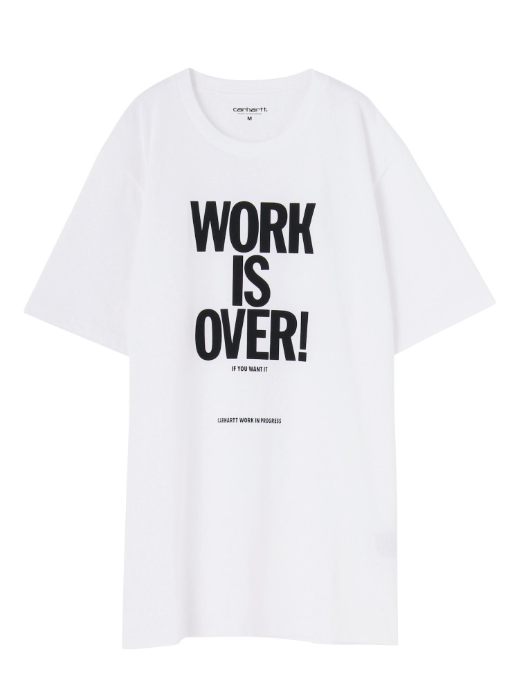 【carhartt】S/S WORK IS OVER T(オフホワイト-M)